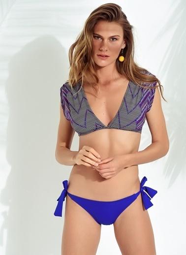 Morhipo Beach Geometrik Desenli Bikini Mavi